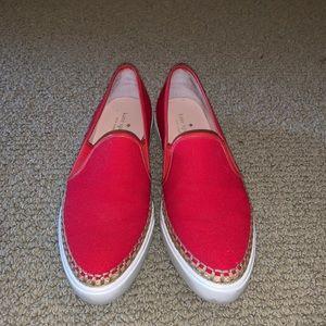 Kate Spade size 8.5 red sneakers
